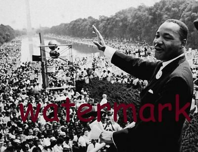 Dr Martin Luther King Giving Famous Speech Lincoln Memorial Aug 28,1963 Photo