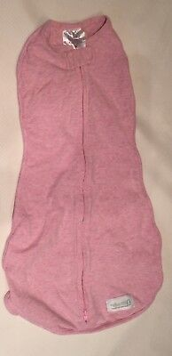 WOOMBIE Original Pink Swaddler Zip Up Sleepsack Girls 5-13lbs 0-3m EUC