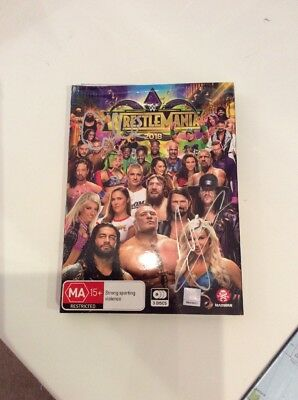 Wrestlemania 2018 3-Disc Signed Copy