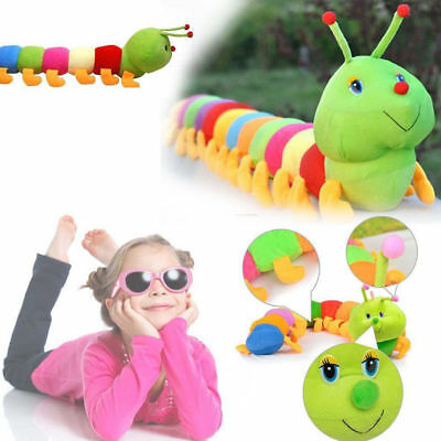 Colorful Inchworm Soft Caterpillar Lovely Developmental Child Baby Toy Doll Toy