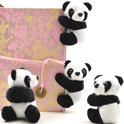 Plush panda clip small stuffed animal curtain clip bookmark notes souvenir toyGY