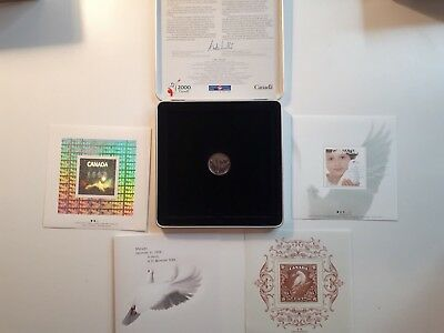 Millenium 1999-2000 Canada Coin & Stamp In Keepsake Box - FAST FREE SHIPPING !!