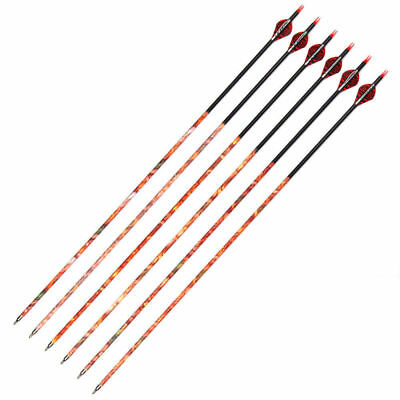 OD 7.8mm Mixed Carbon Arrow 30''500 Spine Archery Arrow With Changable Tips