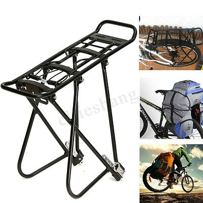 Aluminum Alloy Bicycle Mountain Bike Rear Pannier Rack Seat Mount Luggage Carrie