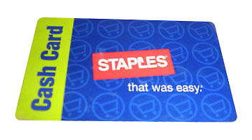 $100 Staples Gift Card - Actual card will be shipped