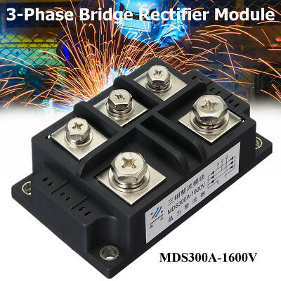 MDS300A 1600V 3 Phase Bridge Rectifier Module Diode Controller 5 Terminals Metal