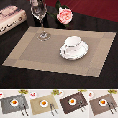 Set of 6 Dining Table Place Mats Heat Insulation Non Slip Woven Placement Mats
