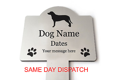 Personalised Pet Memorial Plaque Stake - Outdoor Waterproof - grave marker
