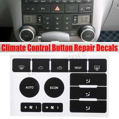 Climate Control Button Repair Decals Stickers For VW Touareg 2004-2009