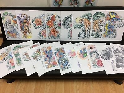 Japanese Tattoo Flash Set 3.   (Size A3)