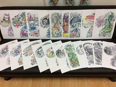 Japanese Tattoo Flash Set 2.   Size A3