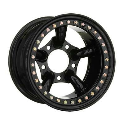 x4 16x8 BLACK 5-PIPE CHALLENGER STYLE IMITATION BEADLOCK WHEELS DEFENDER ET-32