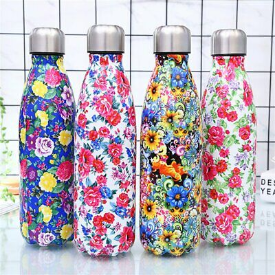 Double Walled Vacuum Insulated Bottle Stainless Steel Water Drinks Sport Gym  E6