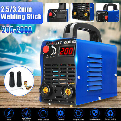 220V ZX7-200 Mini Portable MMA ARC Welder IGBT Welding Machine Inverter 4000W