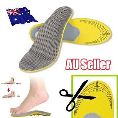 Orthotic Arch Support Shoe Insoles Pads Pain Relief Flat Foot Hard Men Women E6