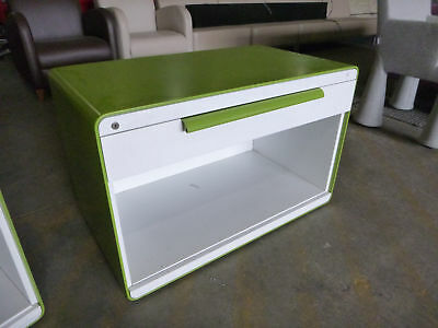 Herman Miller Arras Mobile Caddie/Storage Unit Green/White Metal