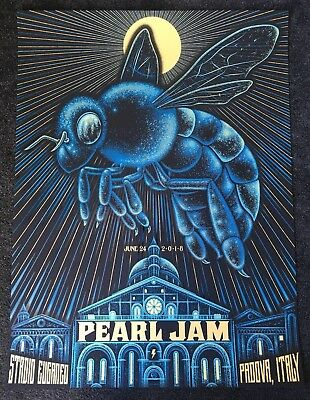 PEARL JAM - Padova, Italy 2018 - Official Event Poster - Italia - Show edition
