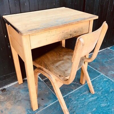 Vintage School Desk & Chair - 2 Sets Left