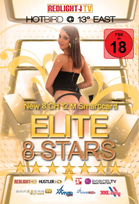 Redlight Elite 8 Stars Viaccess Karte 12 Monate FSK 18 (für Viaccess Secure CAM)