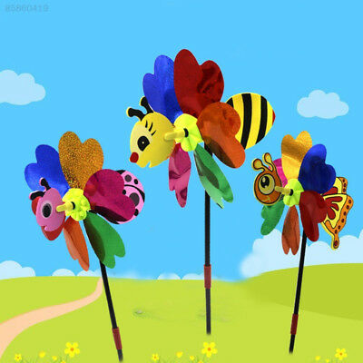 1252 Insect Outdoor Bee Windmill Plastic Toy Whirligig Decor 3D Lovely