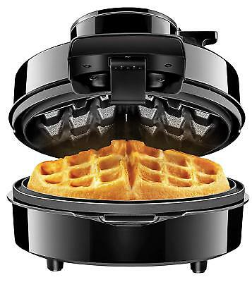 Electric Belgian Waffle Maker Pour Volcano Mess & Stress Free Round Kitchen NEW