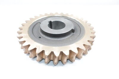32 Tooth 3-1/4in Bore 14-1/4in Bronze Worm Gear