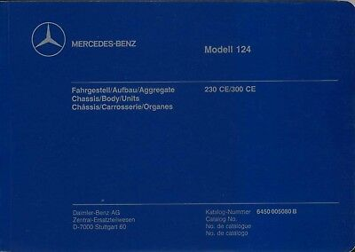 Mercedes Benz W124 Coupe Original Multilingual Chassis & Body Spare Parts List
