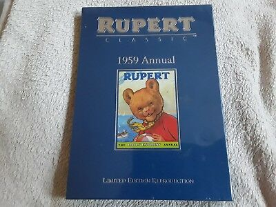 Classic 1959 Rupert Annual in its original slipcase brand new and cello wrapped