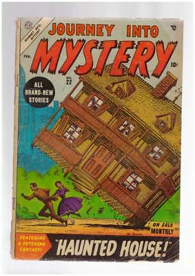 Journey into Mystery # 22  Haunted House !  grade 3.0 scarce Atlas book !