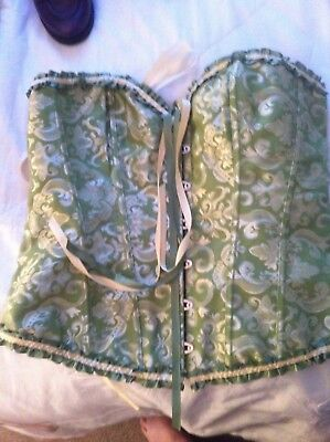 Light Green & Gold Womens Corset Size 16/18 New No Tags