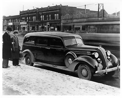 1936 Hudson Eight Hearse ORIGINAL Photo Negative nad5858