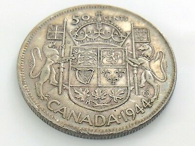 1944 Canada 50 Fifty Cent Half Dollar George VI Canadian Circulated Coin I303