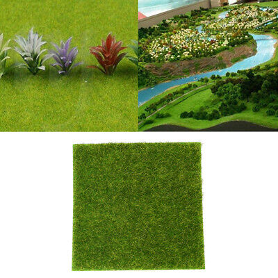 Artificial Green Grass Mat Fake Lawn Synthetic Pads Rugs Pet Turf Dollhouse Deco