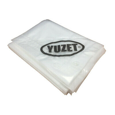 1.2m x 1.8m YUZET CLEAR TARPAULIN 120gsm heavy duty Ribbed strength sheet cover