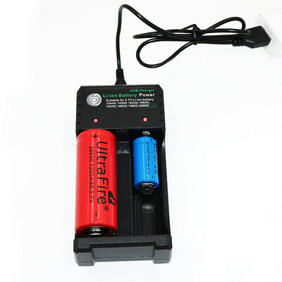 2 Slot Smart Battery Charger For 18650 Rechargeable Li-Ion Battery USB Universal