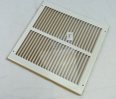 """Hart & Cooley 043318 - #672 Steel Return Air Grille White Finish 12"""" X 12"""" Vent"""