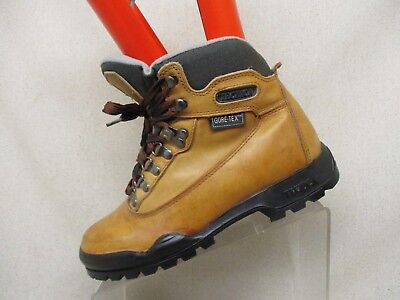 9e42676835 Tecnica Brown Leather Gore Tex Lace Up Ankle Hiking Boots Mens Size 7.5 -  53102