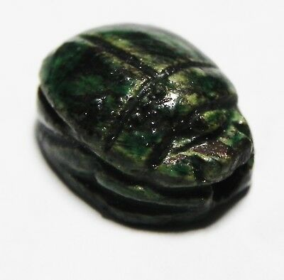 ZURQIEH -as10332- ANCIENT EGYPT.  GLAZED STONE SCARAB. 1300 B.C
