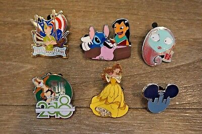 Disney Trading Pin Lot Limited Edition Stitch Sally Peter Pan Damage Pin Lot