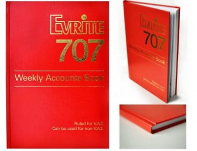Evrite 707 Weekly Accounts Book Use For Summary Invoicing 52 Weeks Pages Red NEW