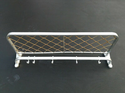 Vintage Art Deco Aluminium Bauhaus Streamline Modernist Machine Age Coat Rack