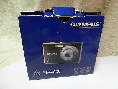 Olympus Fe-4020 Digital Camera 14mp boxed + usb charger cable. + paperwork 4030