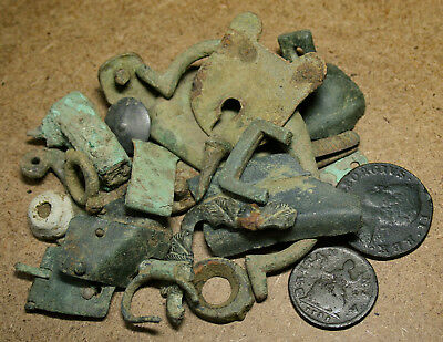 Low Grade Job Lot of Metal Detecting Finds Coins and Artefacts. UK Found Dug Up