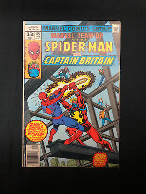 Marvel Team-Up #65 Featuring Spider-Man & Captain Britain Marvel 1st Appearance