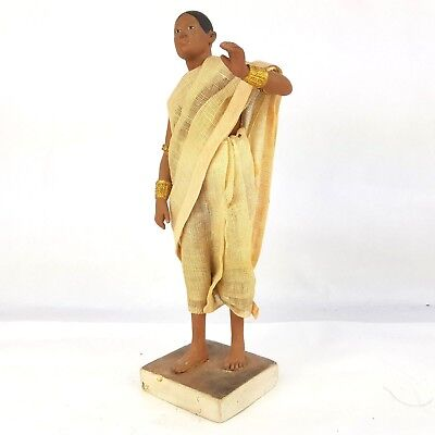 Antique 19th Century Indian Company School Terracotta Figure 23cm