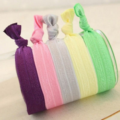 10 20 50pcs Elastic Knotted Hair Ties Band Bracelet Creaseless Ponytail  Holder T ea2e99986fa
