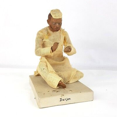 Antique 19th Century Indian Company School Terracotta Darjee Figure