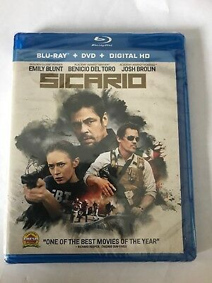 Sicario (Blu-ray/DVD, 2016, 2-Disc Set) No Slipcover