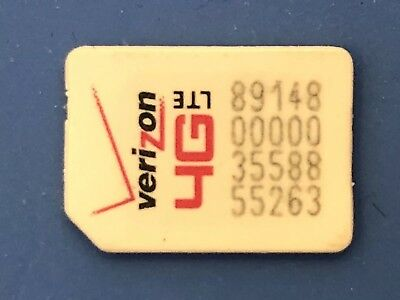 NEW Verizon NANO SIM Card 4FF 4G LTE  FITS ALL PHONES USING NANO SIZE PREPAID