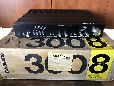 Tandberg 3008A Control Preamplifier, Orig Box, and manuals